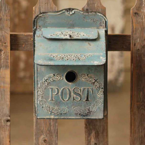 "Embossed White Metal ""Birdhouse"" Mailbox"