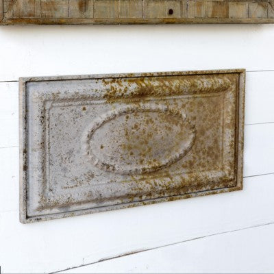 Rustic and Distressed Embossed Metal Plaque Wall Hanging Decor