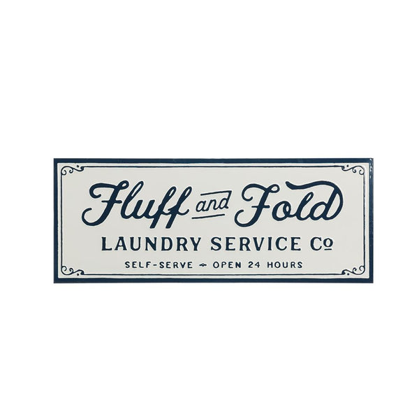 Enamel Metal Laundry Sign