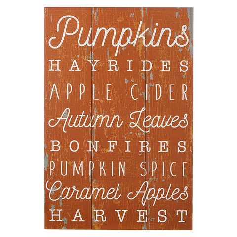 Fall Words Wall Art