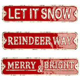 Metal Holiday Sign resembling a vintage Street signs, Perfect for a country cottage, cozy cabin or festive farmouse.