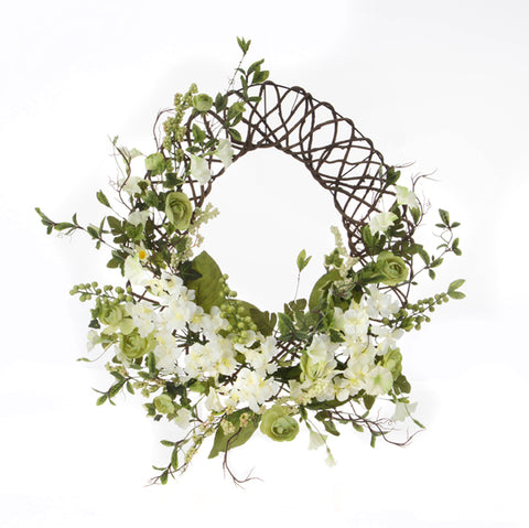 Spring or Summer Floral Wreath