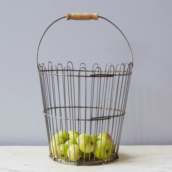 Found Vintage Apple Picking Basket from Europe