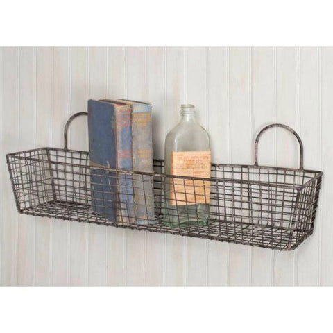 Rustic Wire French Bakery Basket for a country cottage or french farmhouse kitchen