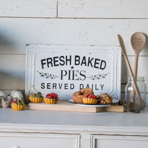 Fresh Baked Pies Metal Sign