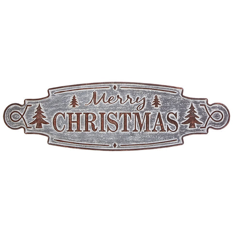"""Merry Christmas"" Metal Wall Sign"