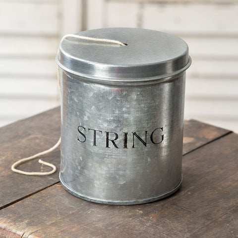 Galvanized Metal String Holder