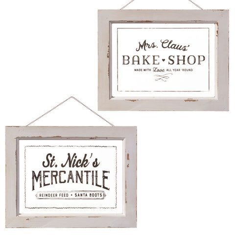 """St. Nicks"" and ""Mrs. Clause"" Holiday Wall Art - Two Styles"