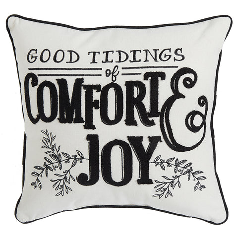 """Good Tidings"" Decorative Holiday Pillow"