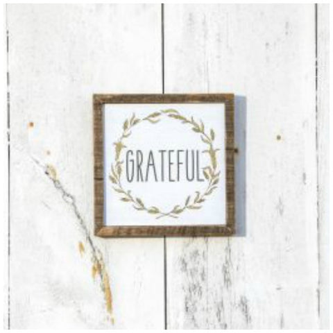 Grateful fall decor wall sign for the holidays