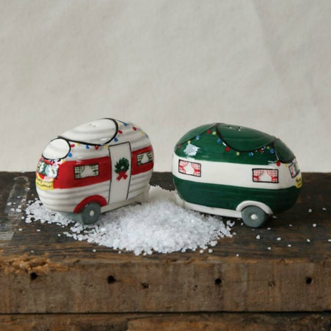 Vintage Camper Holiday Salt and Pepper Shakers