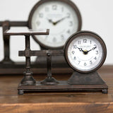 Rustic Farmhouse Vintage Style Hardware Scale Clock