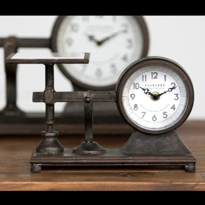 Vintage Inspired Hardware Scale with Clock