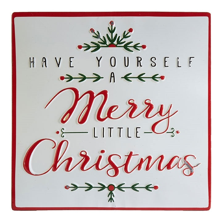 Merry Little Christmas Wall Sign – Vintage Farmhouse Finds