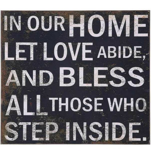 """Let Love Abide"" Wall Decor"