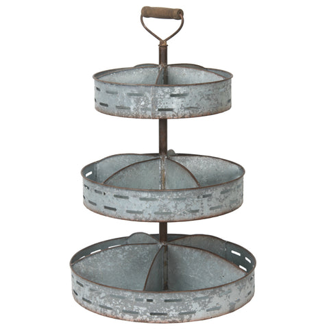 The Logan Metal Divided Three Tiered Tray