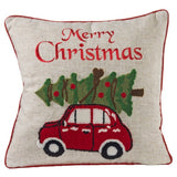 Merry Christmas Decorative Holiday Pillow