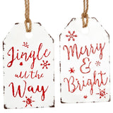 "Metal ""Gift Tag"" Wall Decor"
