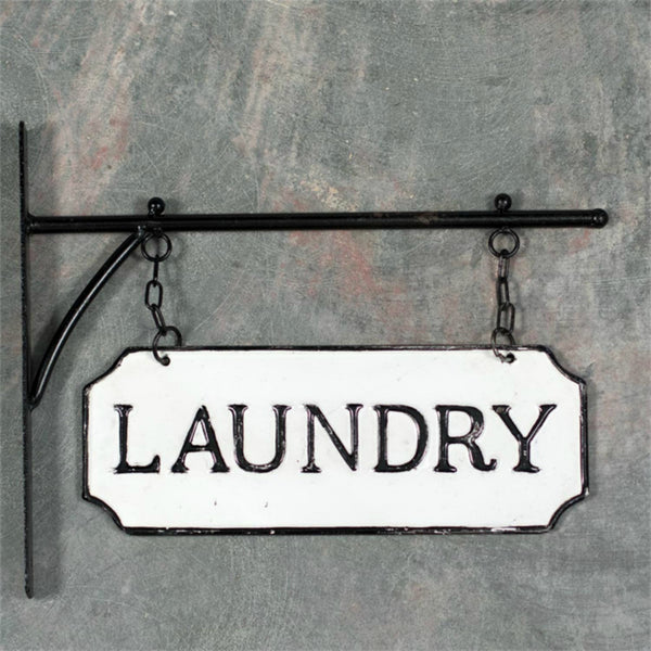 "Metal  ""Laundry"" Sign with Bracket"