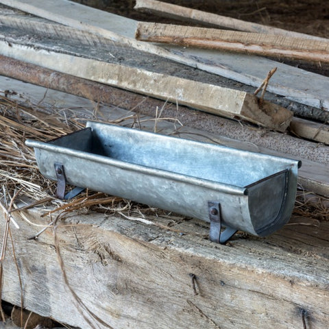 Rustic Industrial Metal Farmhouse Raingutter Centerpiece