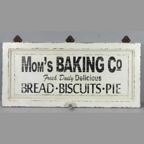 Moms Baking Company Vintage Inspired Wall Sign