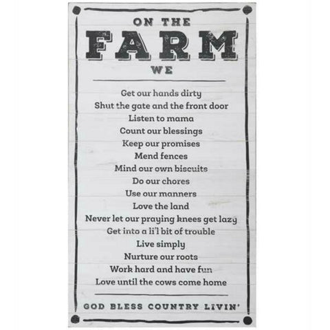 Life on the Farm Wall Decor