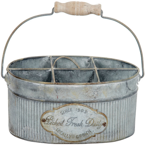 """Picked Fresh Daily"" Metal Caddy"