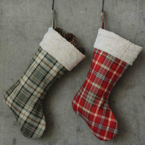 Red and Green Plaid Holiday Stocking