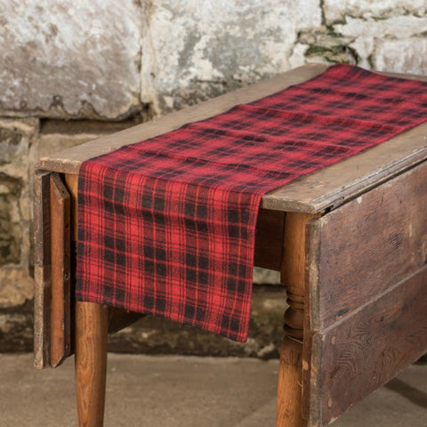Red and Black Plaid Table Runner