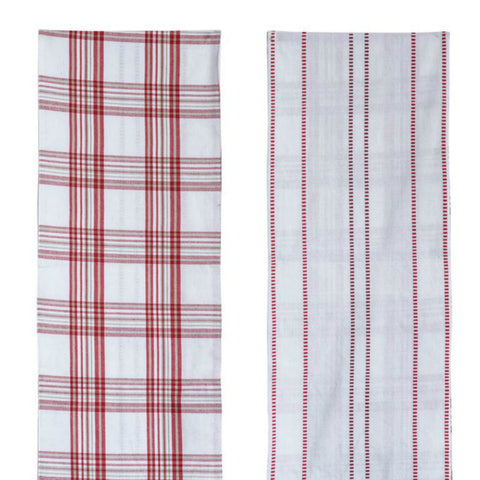 Red and White Reversible Table Runner