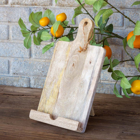 Rustic Wooden Tablet Holder