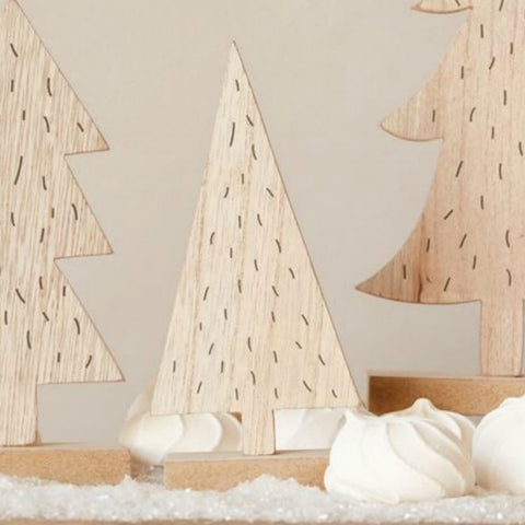 Rustic Wooden Tree - Set of Three