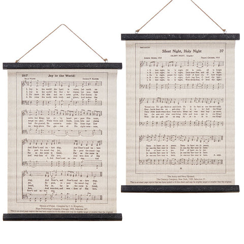 Holiday Sheet Music Wall Art
