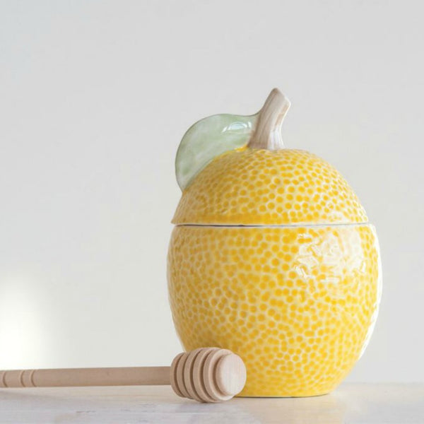 Lemon Shaped Honey Jar