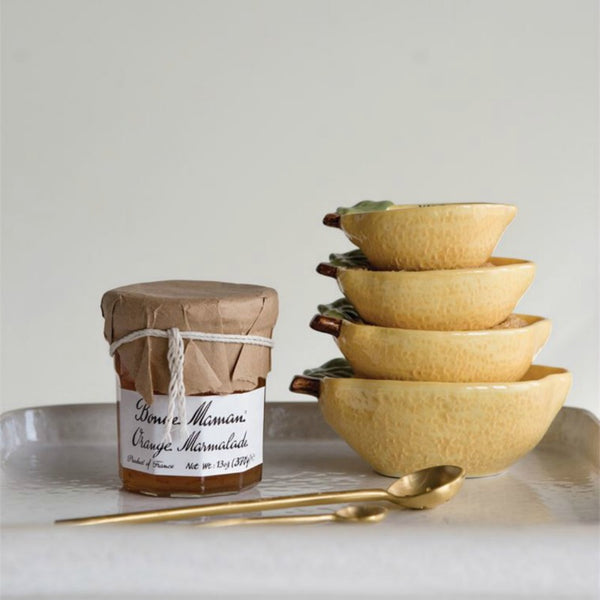 Stoneware Lemon Measuring Cups - Set of Four