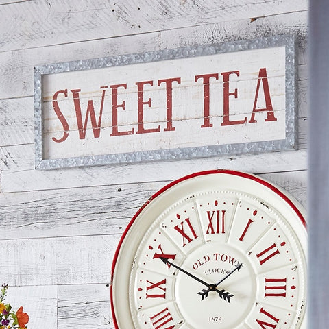 Sweet Tea Wall Sign Rustic Metal Frame