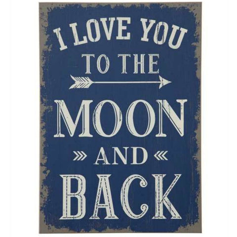 """To the Moon and Back"" Wall Decor"