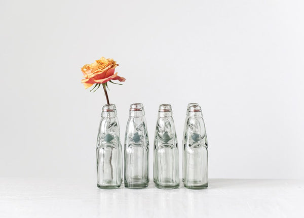 Vintage Style Soda Bottles - Set of Four