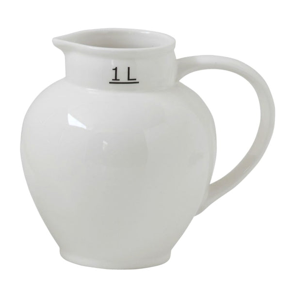 Vintage Inspired Ceramic Measuring Pitcher