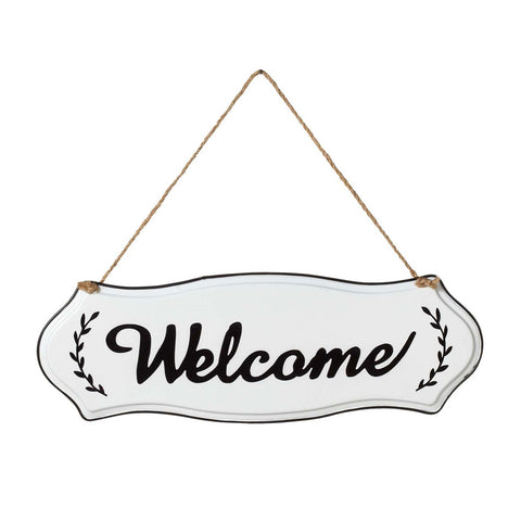 Enameled Metal Welcome Sign