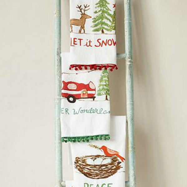 Winter Holiday Tea Towels