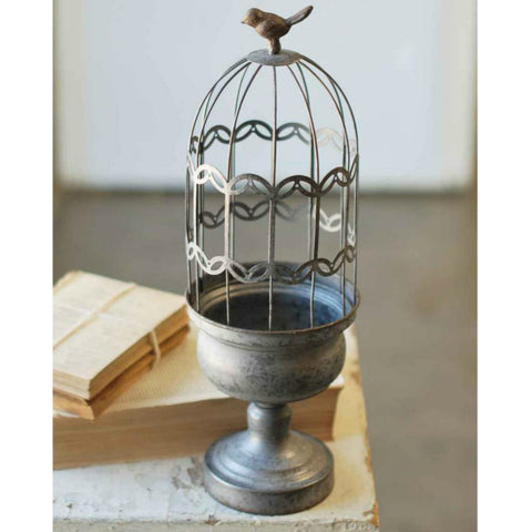 Wire Cloche and Pedestal - Two Sizes, Finishes