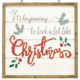 Holiday Wall Signs with Wood Frames - Two Styles