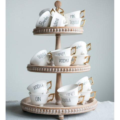 Friday Night Teacups - Set of Six