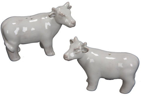 Barnyard Cow Salt and Pepper Shakers Set of Two