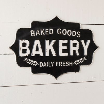 Vff Products Black and White Baked Goods Bakery Sign