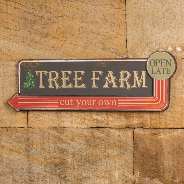 """Tree Farm, Cut Your Own"" Wall Sign"
