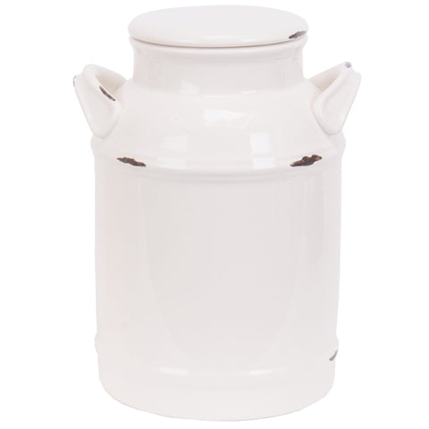 Cream Can Cookie Jar for a farmhouse or country cottage kitchen