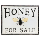Rustic Farmhouse Embossed Metal Honey for Sale Sign Wall Decor