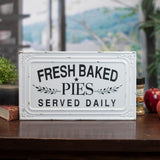 Vintage Inspired Fresh Baked Pies Metal Sign